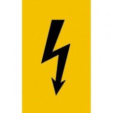 Spannungszeichen (schwarzer Blitz) |Elektrozeichen B2B Schilder
