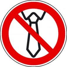 Bedienung mit Krawatte verboten | Verbotszeichen B2B Schilder