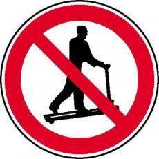 Mit Hubwagen rollen verboten | Verbotszeichen B2B Schilder