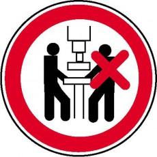 Maschine nur von 1 Person zu bedienen | Verbotszeichen B2B Schilder