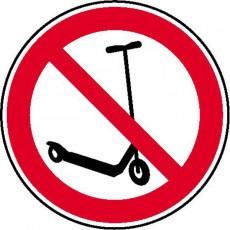 Kickboard fahren verboten | Verbotszeichen B2B Schilder
