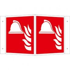 Mittel und Geräte zur Brandbekämpfung Winkelschild | Brandschutzschild B2B Schilder